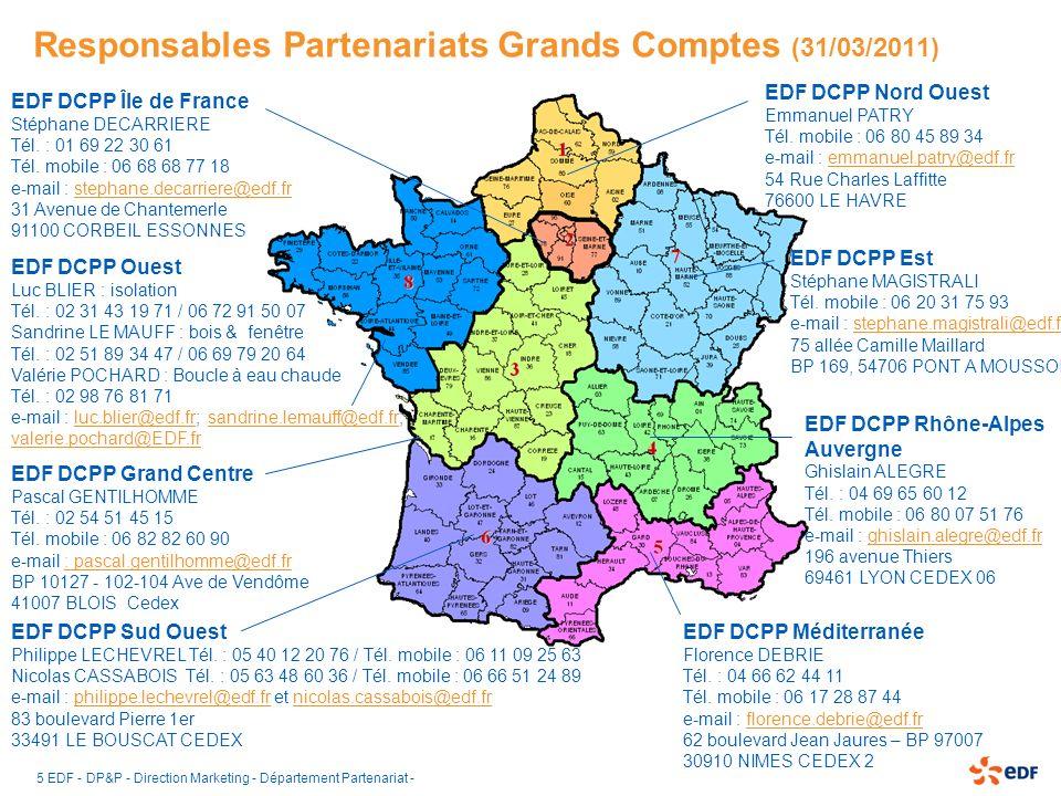 Responsables Partenariats Grands Comptes (31/03/2011)