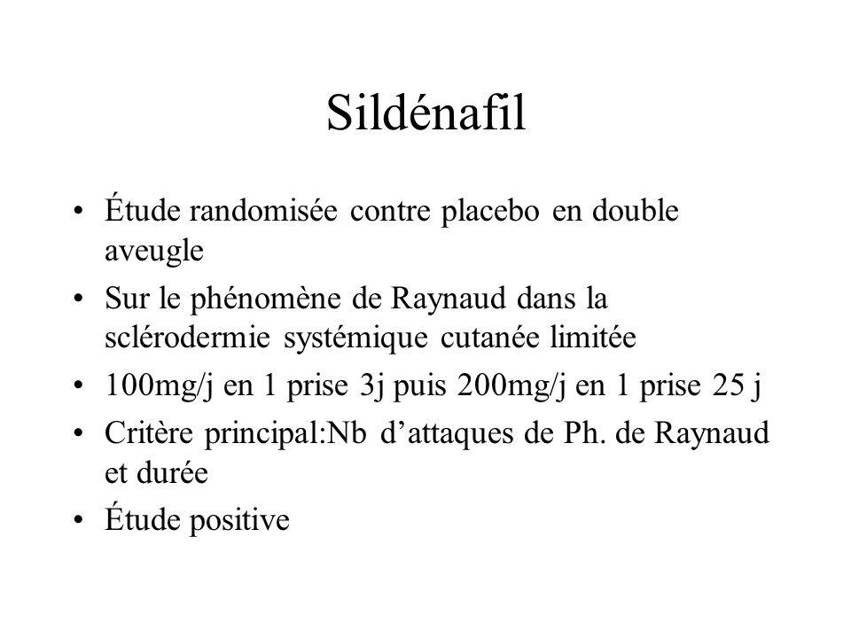 Sildénafil Étude randomisée contre placebo en double aveugle
