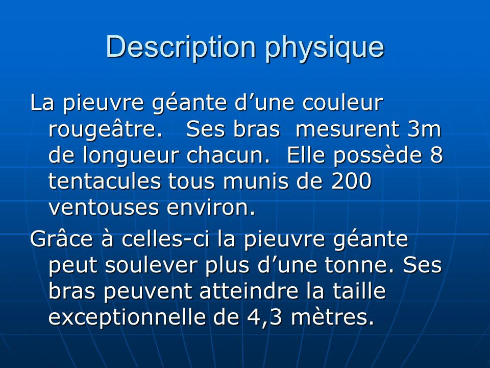 Description physique