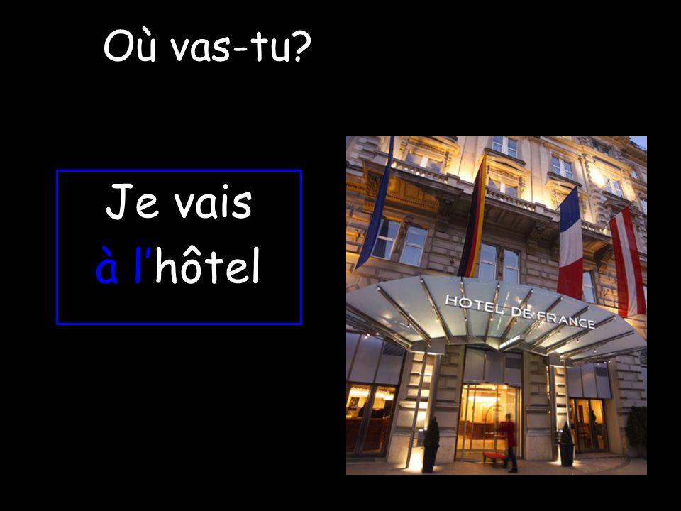 Où vas-tu Je vais à l'hôtel