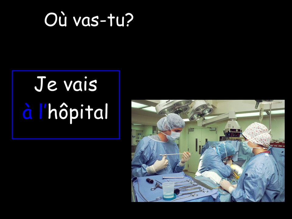 Où vas-tu Je vais à l'hôpital
