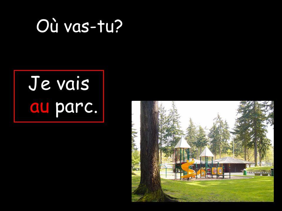 Où vas-tu Je vais au parc.