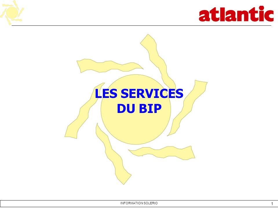 LES SERVICES DU BIP