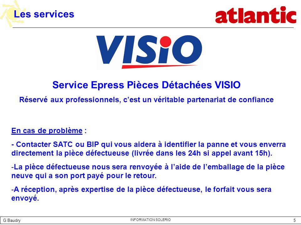 Service Epress Pièces Détachées VISIO