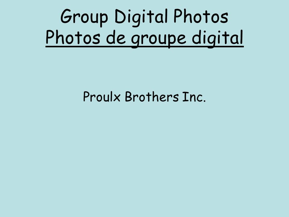 Group Digital Photos Photos de groupe digital