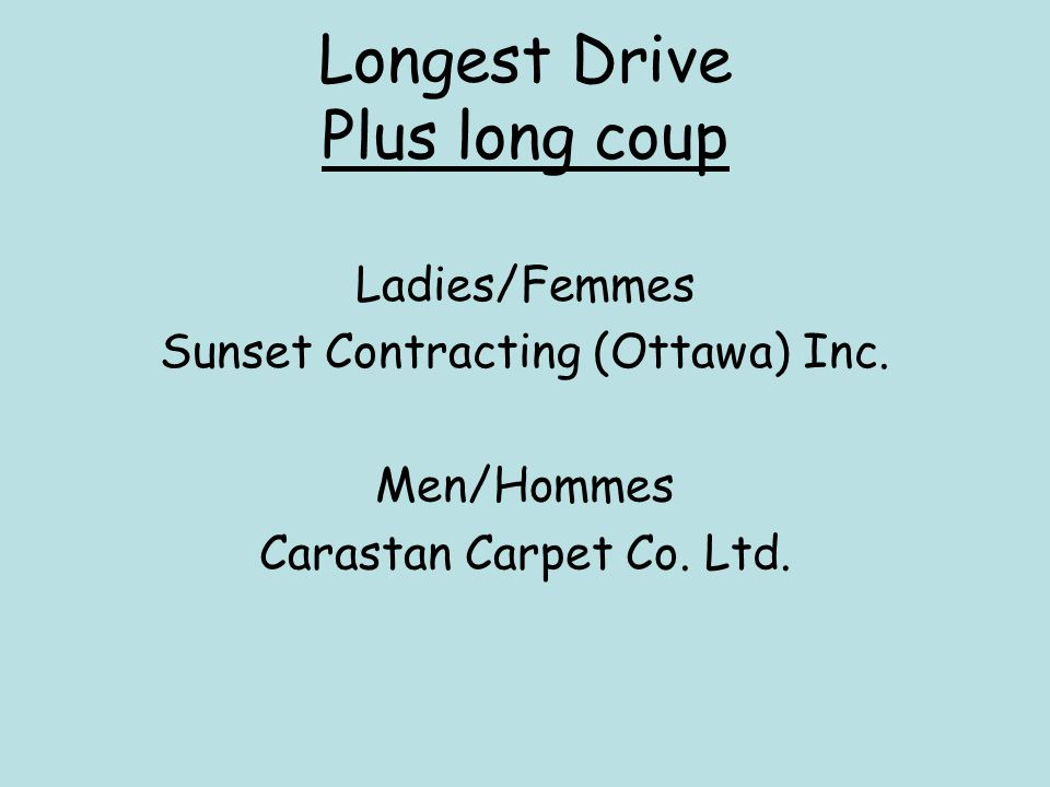 Longest Drive Plus long coup