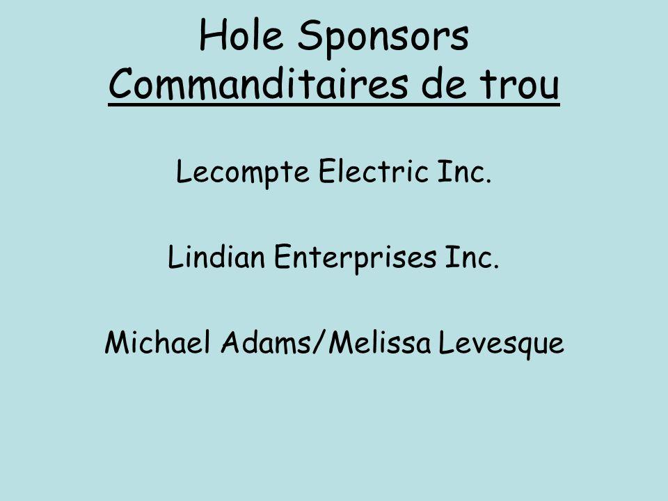 Hole Sponsors Commanditaires de trou