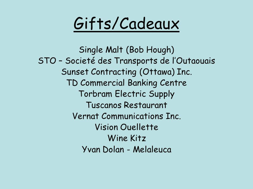 Gifts/Cadeaux Single Malt (Bob Hough)