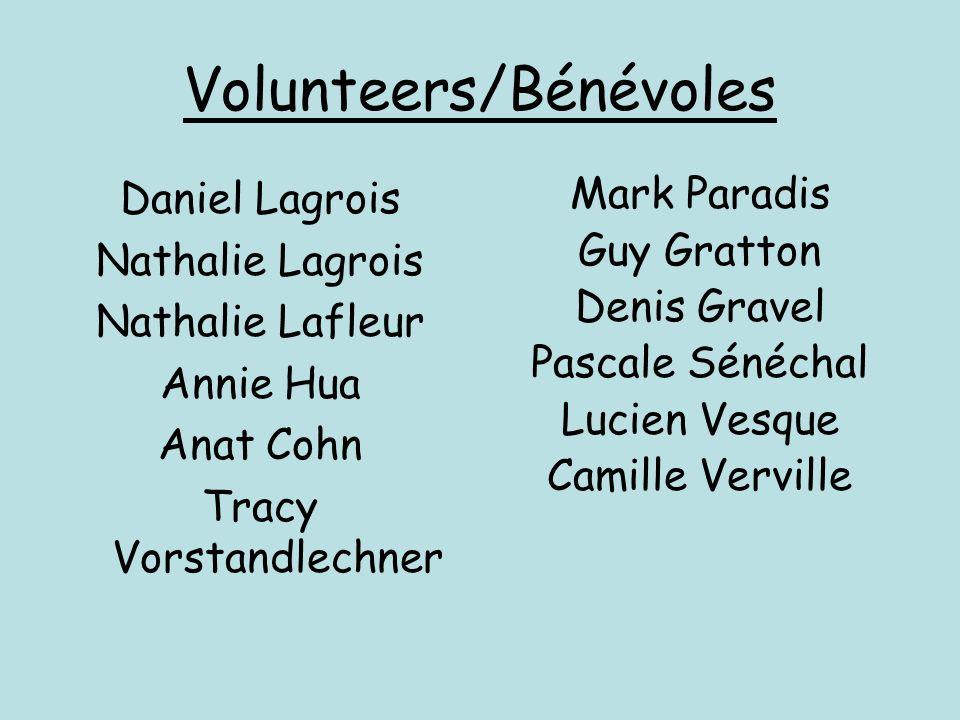 Volunteers/Bénévoles