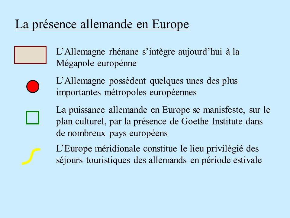La présence allemande en Europe