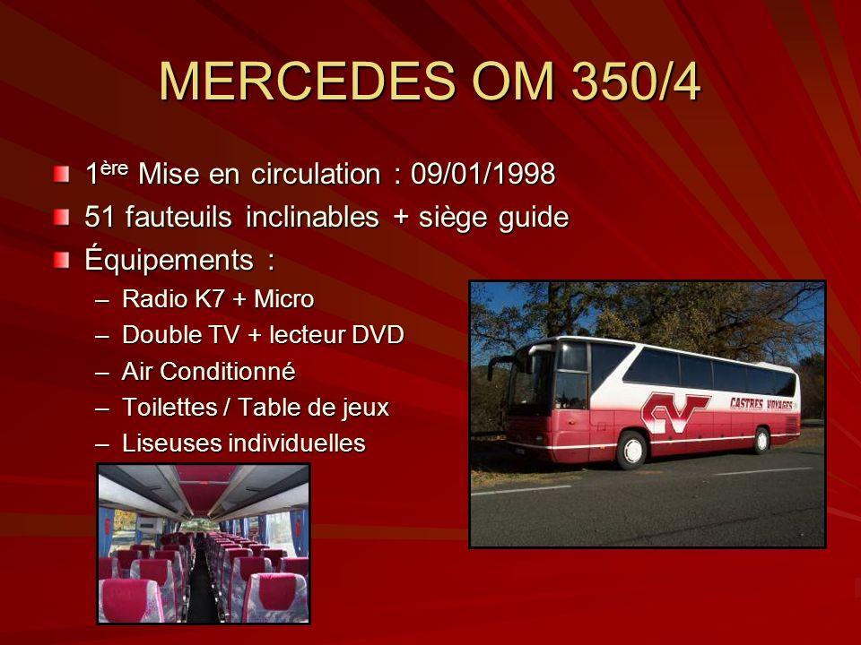 MERCEDES OM 350/4 1ère Mise en circulation : 09/01/1998