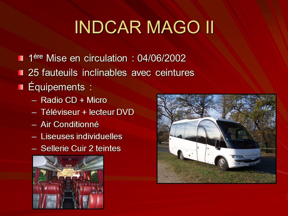 INDCAR MAGO II 1ère Mise en circulation : 04/06/2002