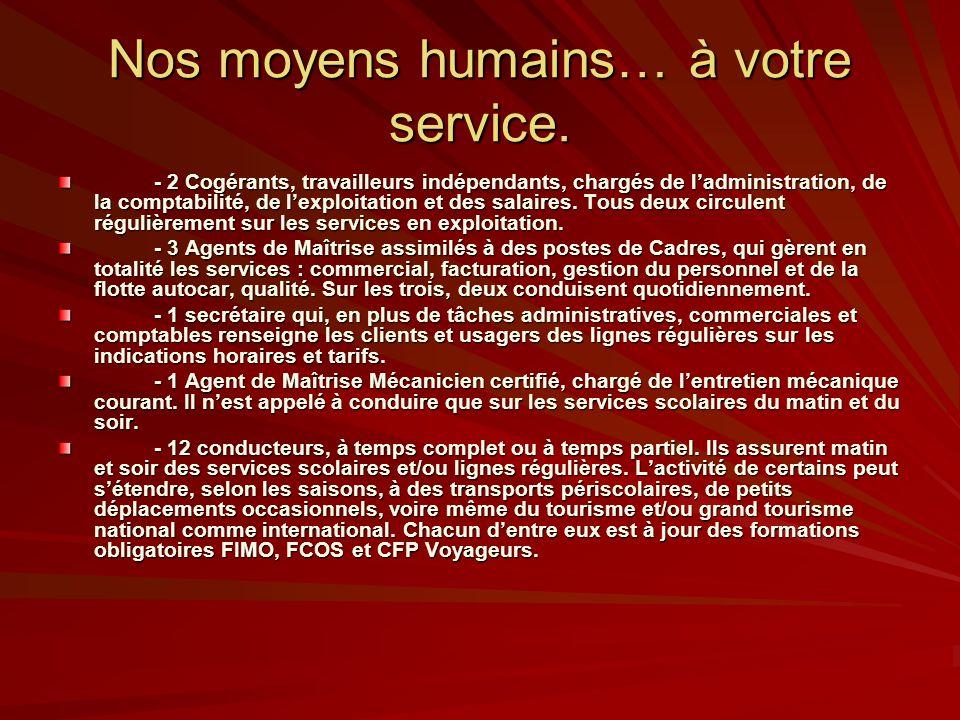 Nos moyens humains… à votre service.
