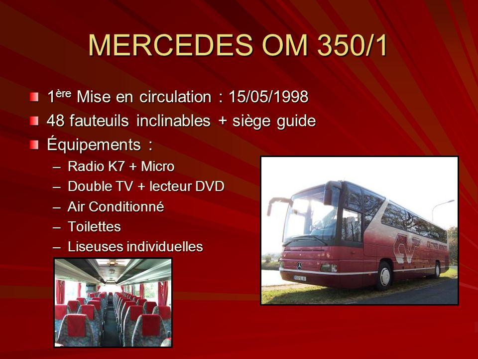 MERCEDES OM 350/1 1ère Mise en circulation : 15/05/1998