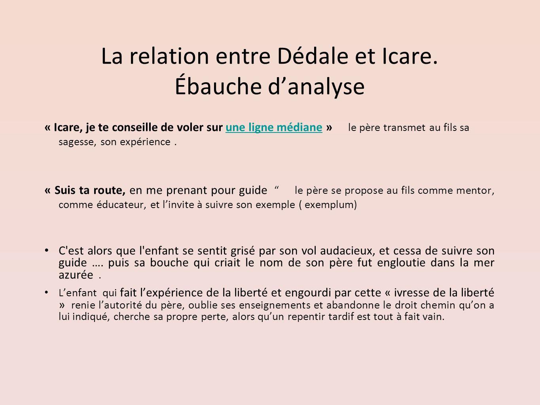 La relation entre Dédale et Icare. Ébauche d'analyse