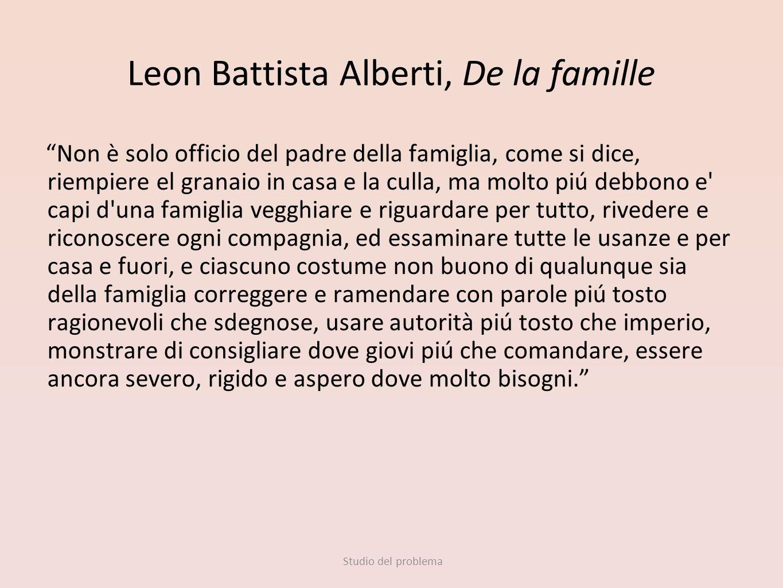 Leon Battista Alberti, De la famille