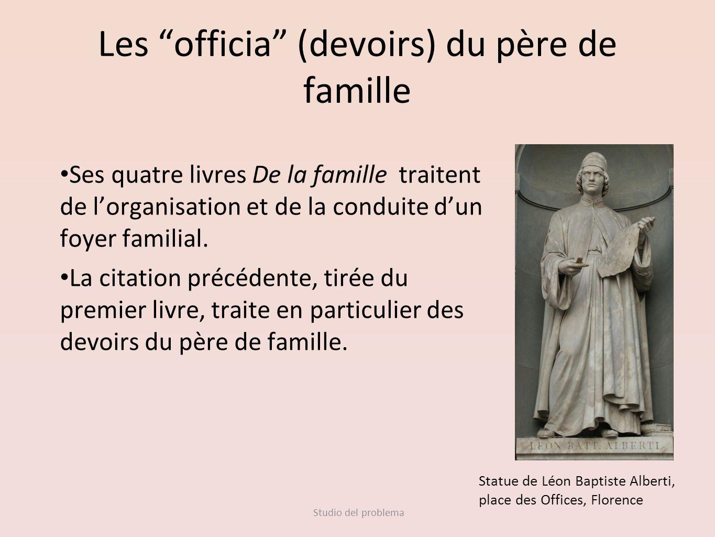 Les officia (devoirs) du père de famille