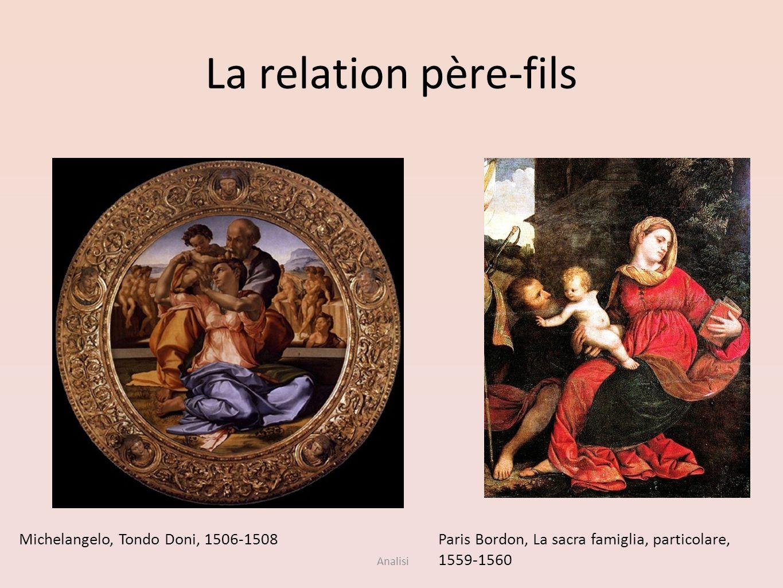 La relation père-fils Michelangelo, Tondo Doni, 1506-1508