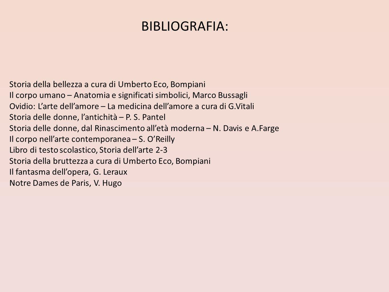 BIBLIOGRAFIA: Storia della bellezza a cura di Umberto Eco, Bompiani
