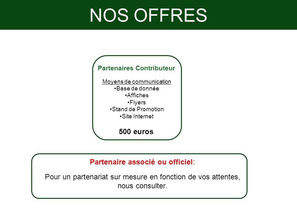 Partenaire associé ou officiel: