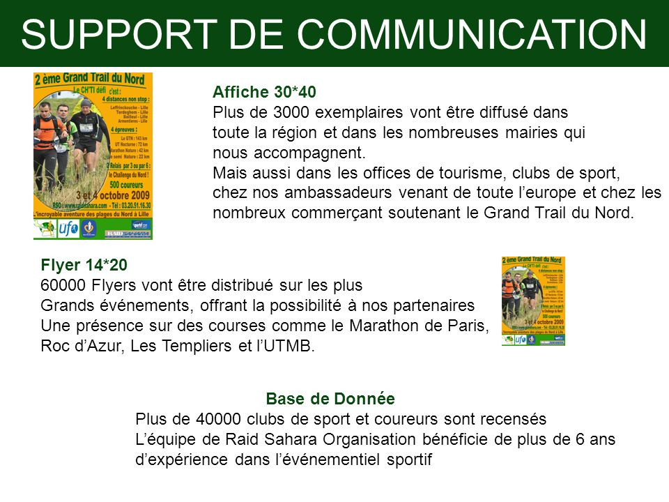 SUPPORT DE COMMUNICATION
