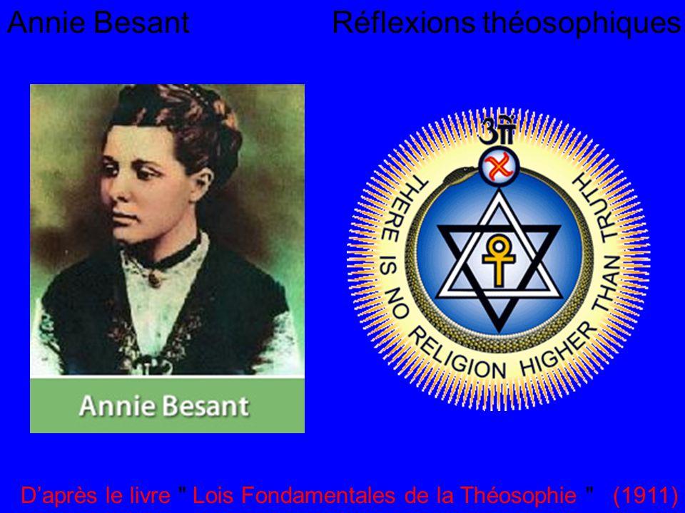 Annie Besant Réflexions théosophiques