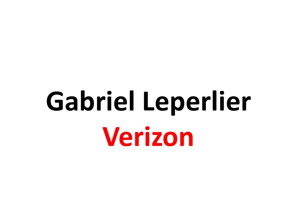 Gabriel Leperlier Verizon