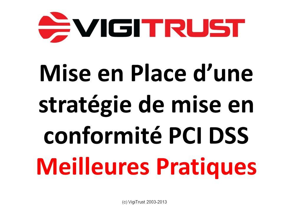 Mise en Place d'une stratégie de mise en conformité PCI DSS Meilleures Pratiques