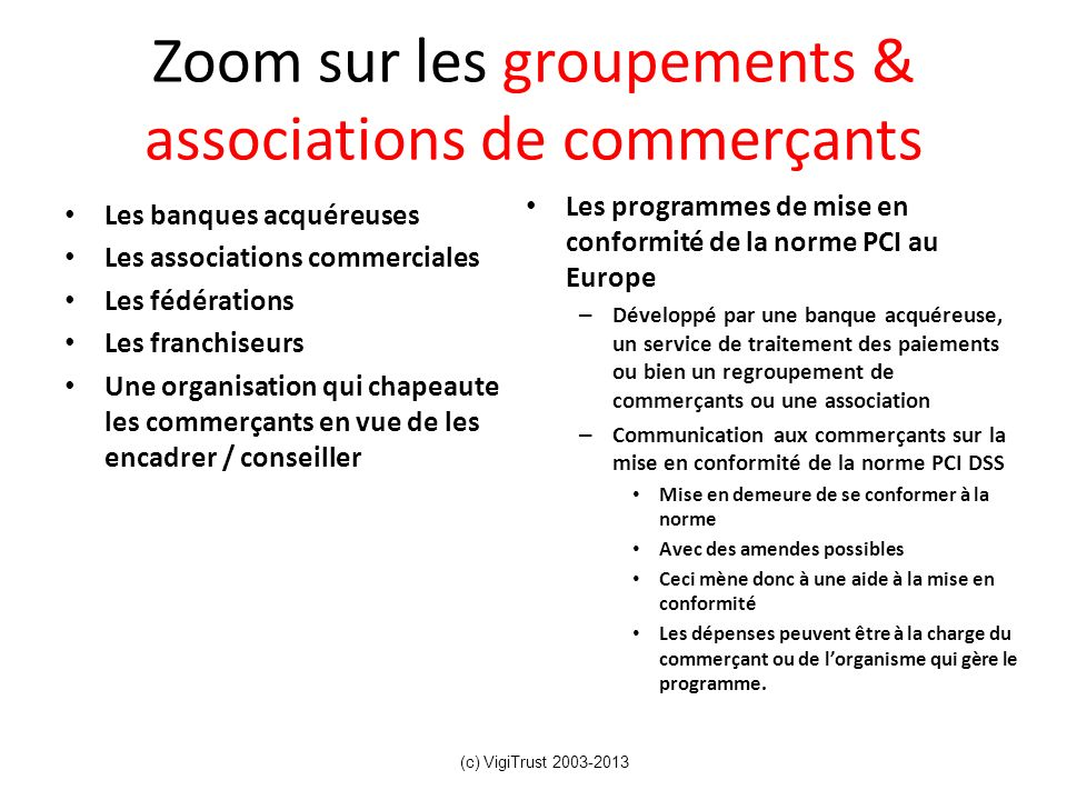 Zoom sur les groupements & associations de commerçants