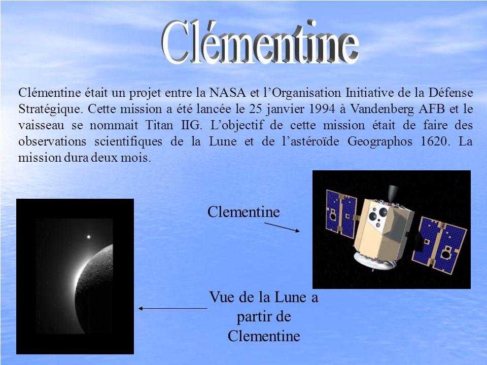 Vue de la Lune a partir de Clementine