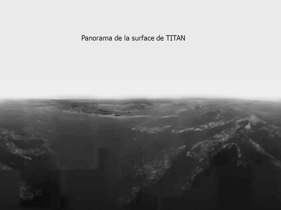 Panorama de la surface de TITAN