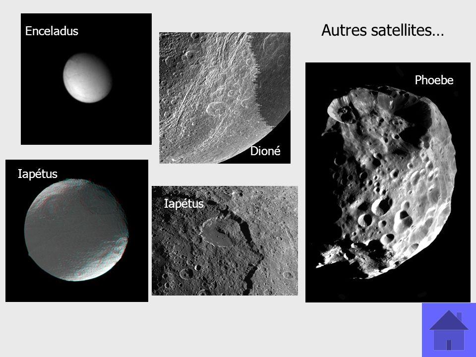 Autres satellites… Enceladus Phoebe Dioné Iapétus Iapétus