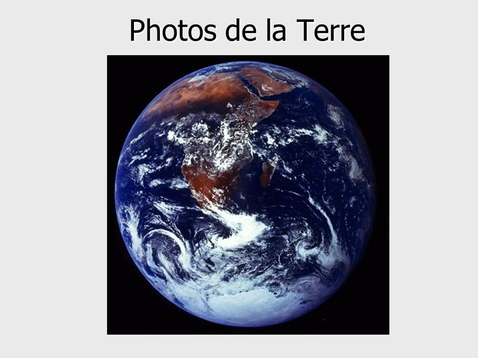 Photos de la Terre