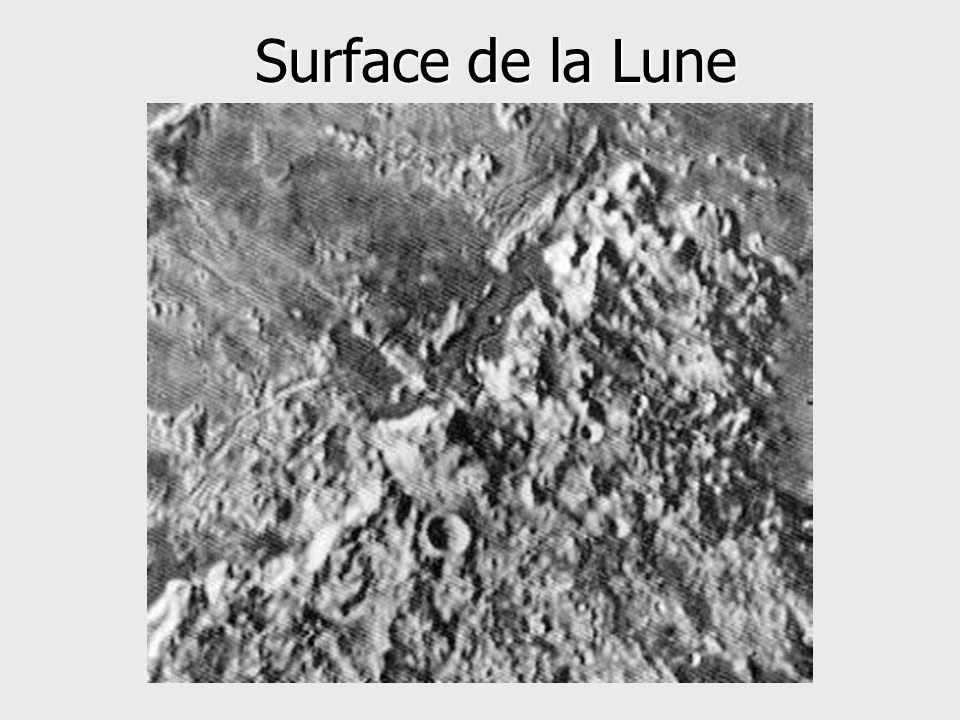 Surface de la Lune
