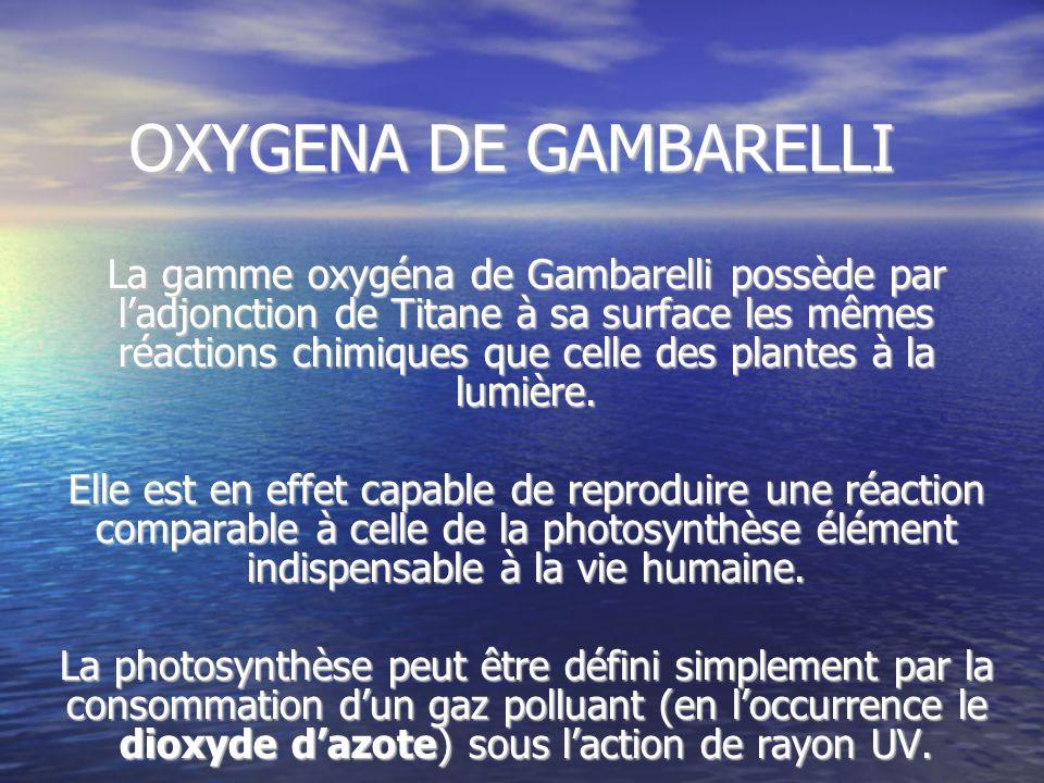 OXYGENA DE GAMBARELLI