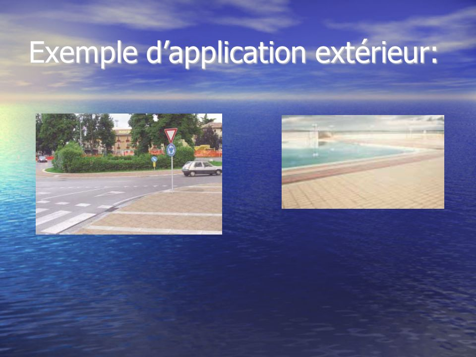 Exemple d'application extérieur: