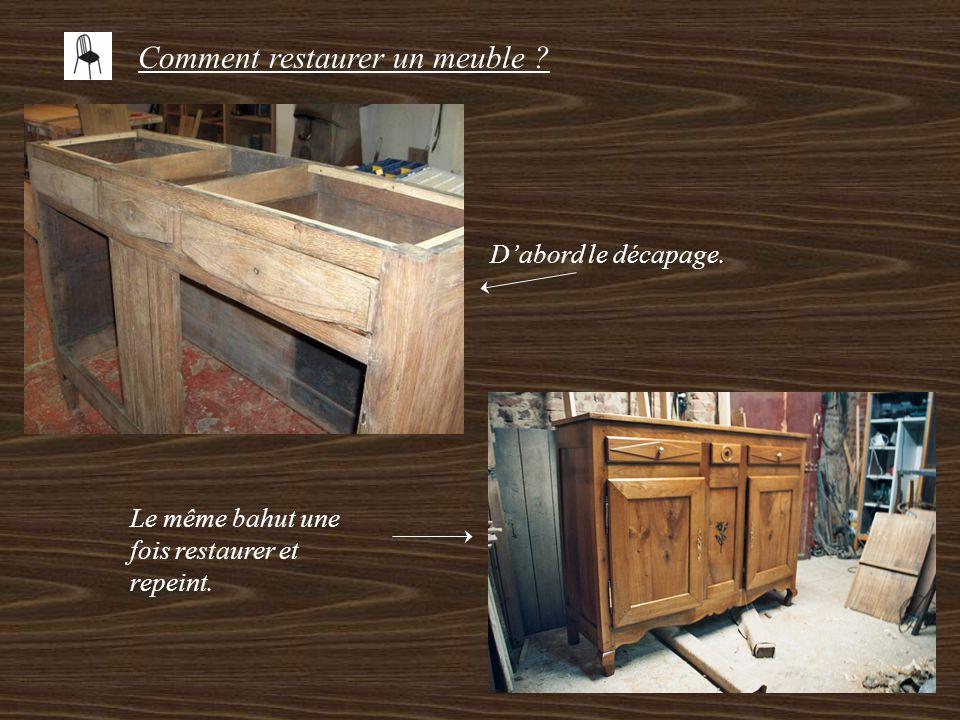 Comment restaurer un meuble