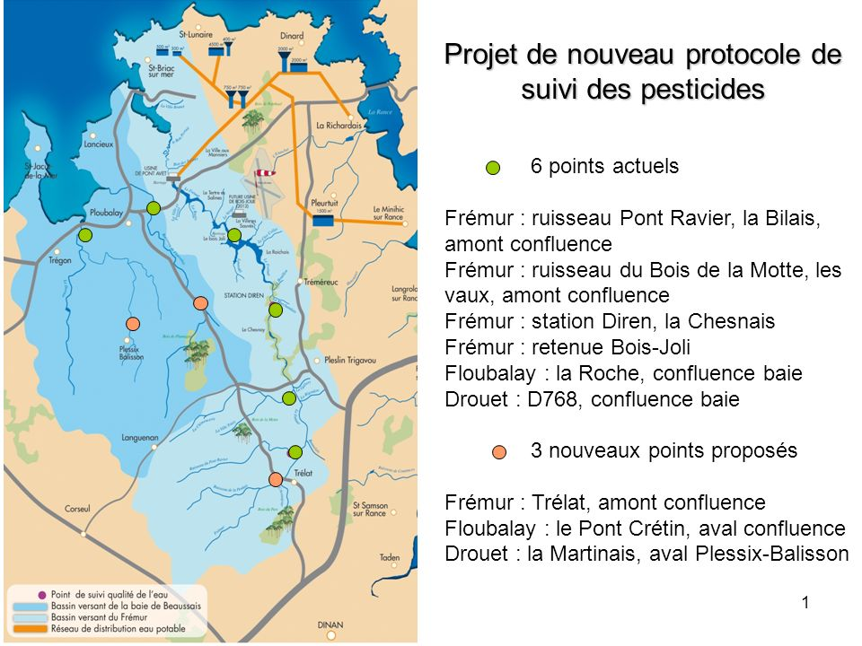 Projet de nouveau protocole de suivi des pesticides