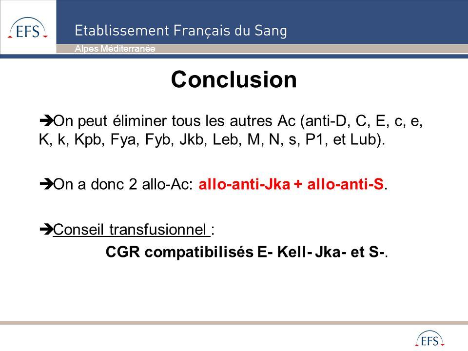 CGR compatibilisés E- Kell- Jka- et S-.