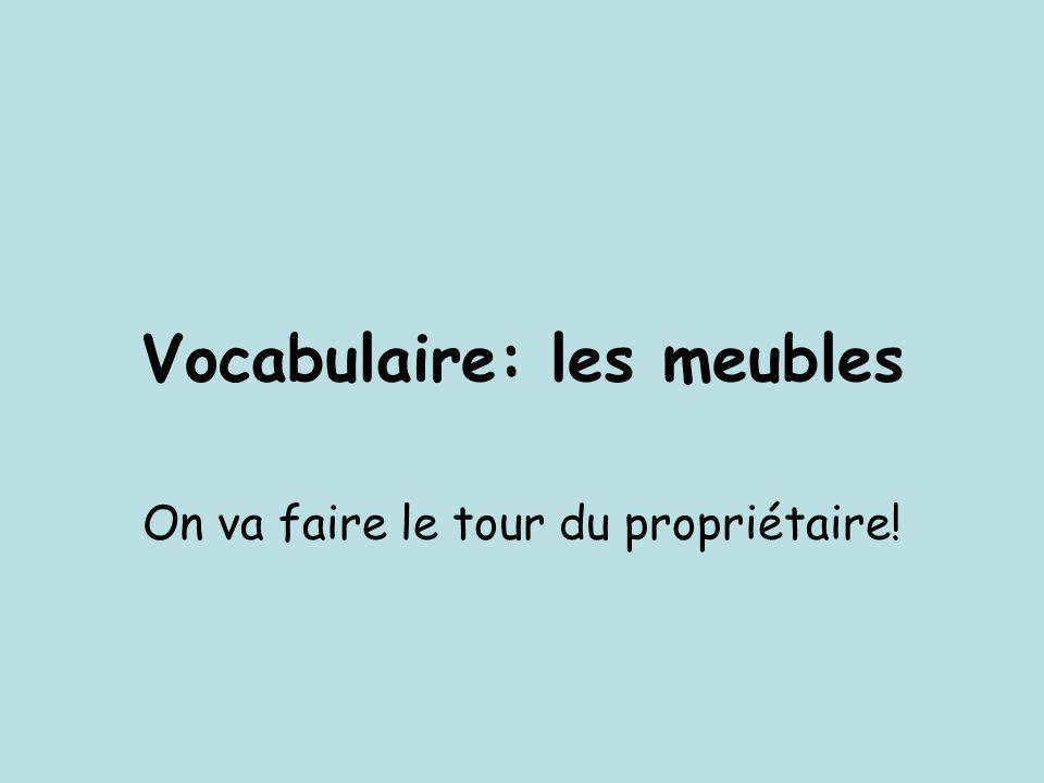 Vocabulaire: les meubles