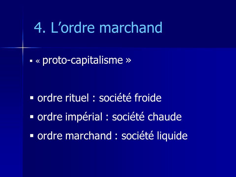 4. L'ordre marchand ordre rituel : société froide