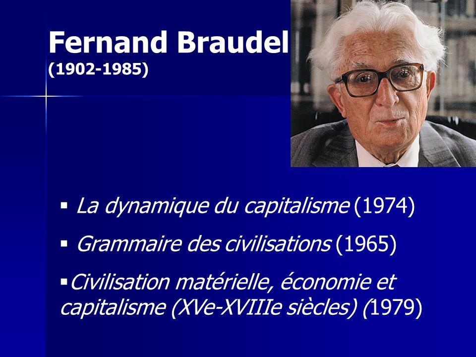Fernand Braudel (1902-1985) La dynamique du capitalisme (1974)