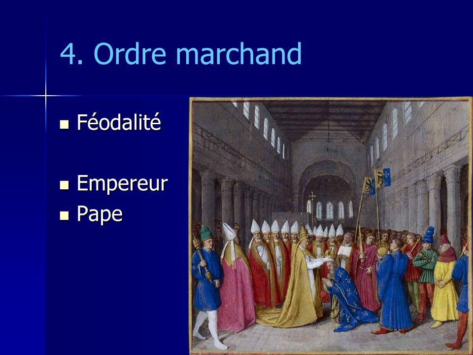 4. Ordre marchand Féodalité Empereur Pape