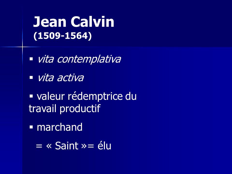 Jean Calvin (1509-1564) vita contemplativa vita activa