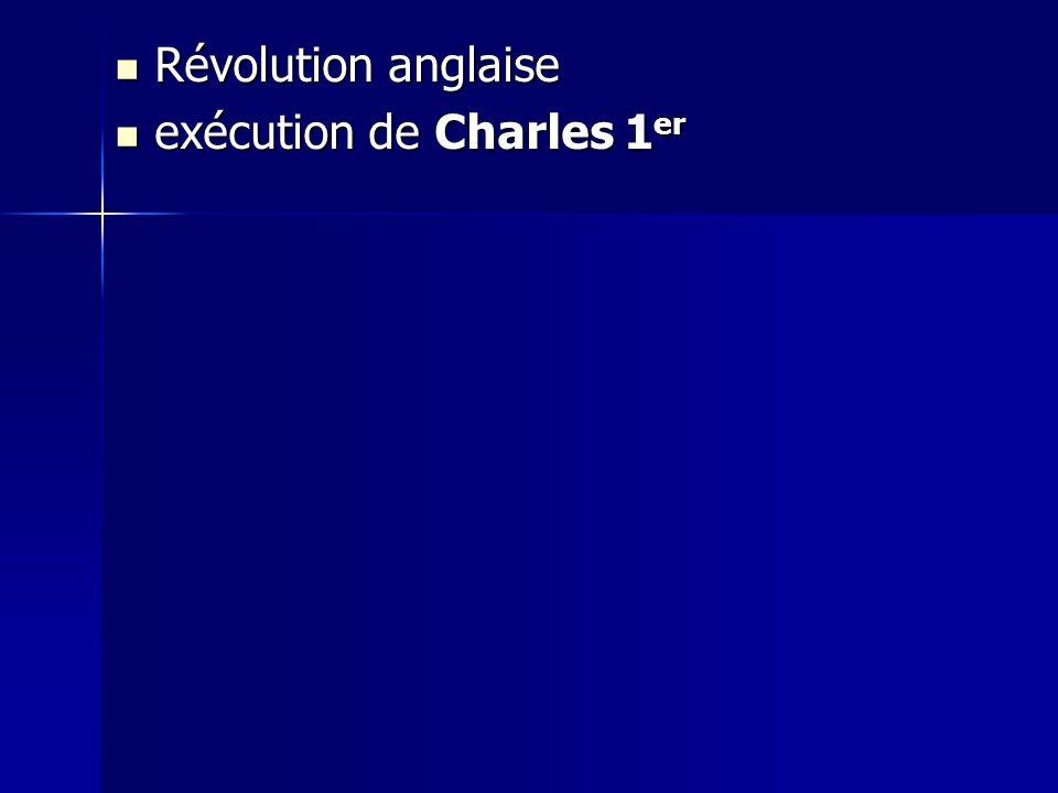 Révolution anglaise exécution de Charles 1er
