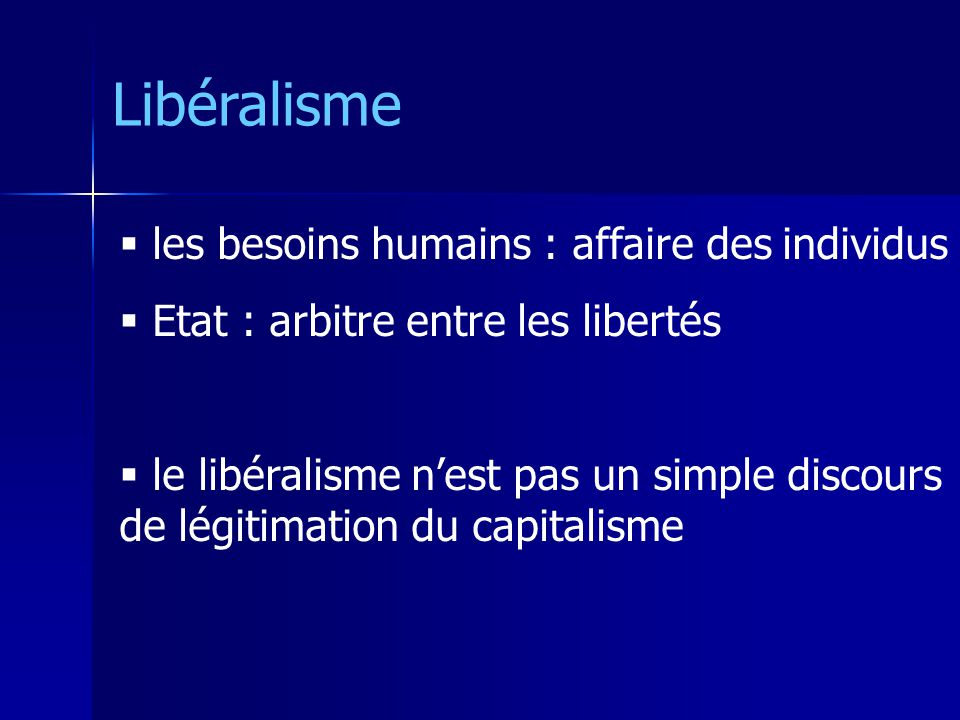 Libéralisme les besoins humains : affaire des individus