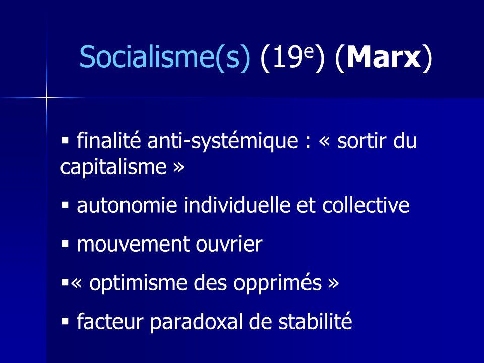 Socialisme(s) (19e) (Marx)