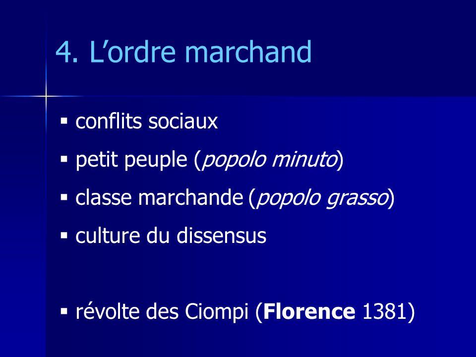 4. L'ordre marchand conflits sociaux petit peuple (popolo minuto)