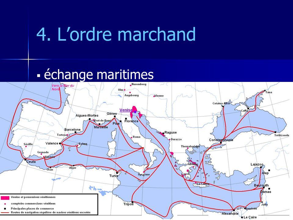 4. L'ordre marchand échange maritimes