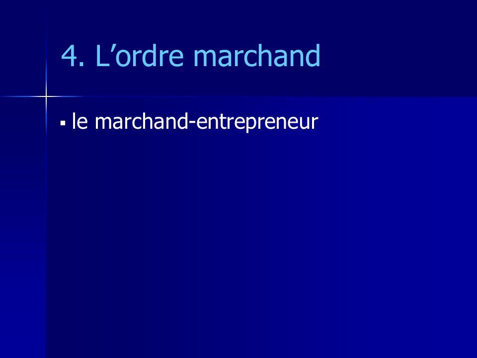 4. L'ordre marchand le marchand-entrepreneur